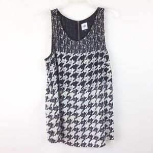 Cabi Broken Check Houndstooth Top L (729)